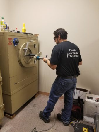 Florida Lock Doctor at Sears in Tampa opening 1 of 2 Mosler safes